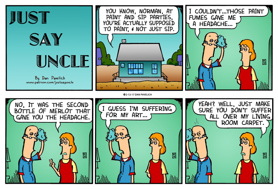 Just Say Uncle Comic Strip for February 12, 2017