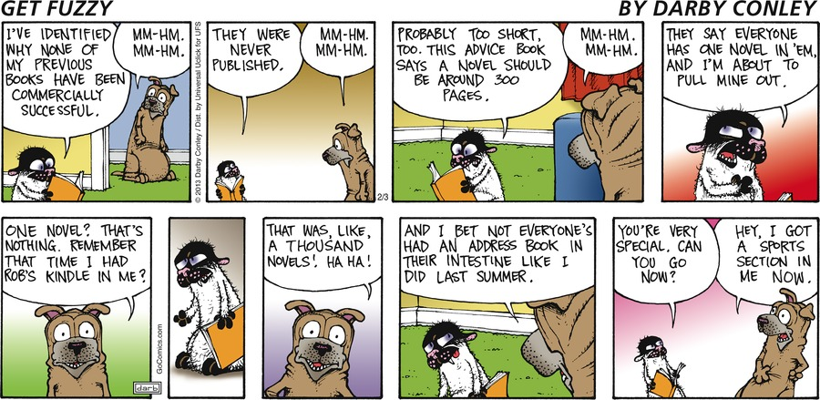 Get Fuzzy Comic Strip for February 03, 2013