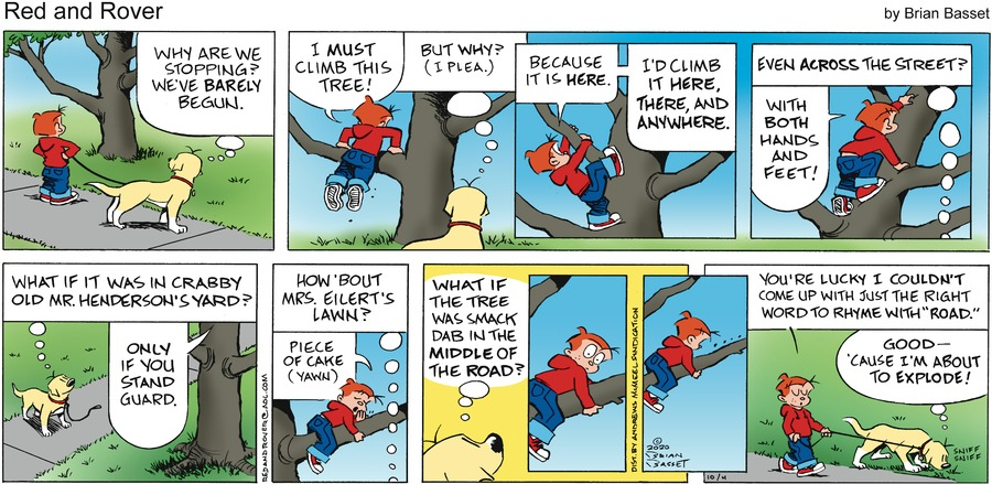 Red and Rover Comic Strip for October 04, 2020
