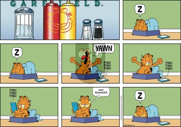 Garfield on Sunday July 5, 2020 Comic Strip