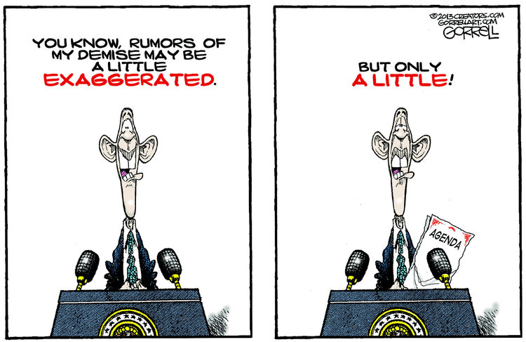Bob Gorrell for May 1, 2013 Comic Strip