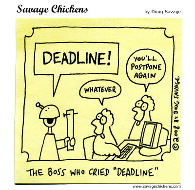 Boss: DEADLINE! 