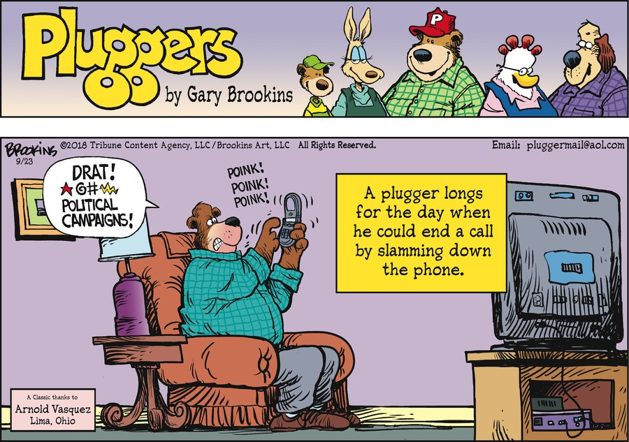 Pluggers Comic Strip for September 23, 2018