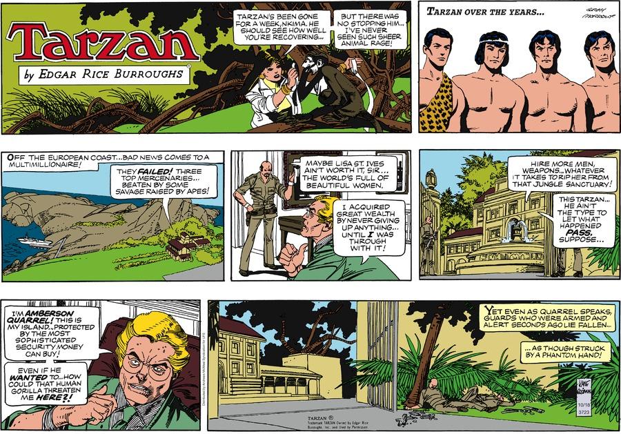 Tarzan Comic Strip for October 18, 2020