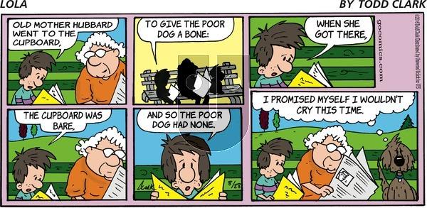 Lola on Sunday August 28, 2016 Comic Strip