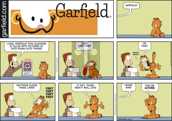 Garfield on Sunday September 22, 2019 Comic Strip
