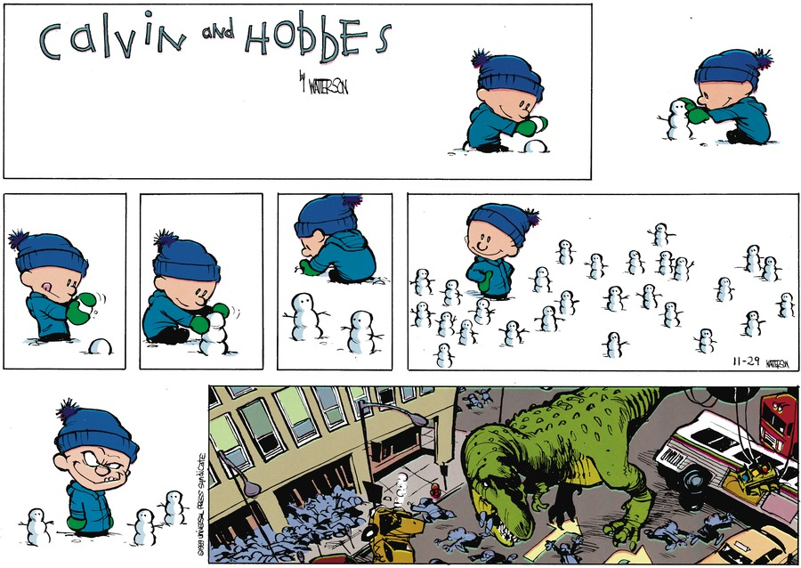 Calvin and Hobbes Comic Strip for February 05, 1989