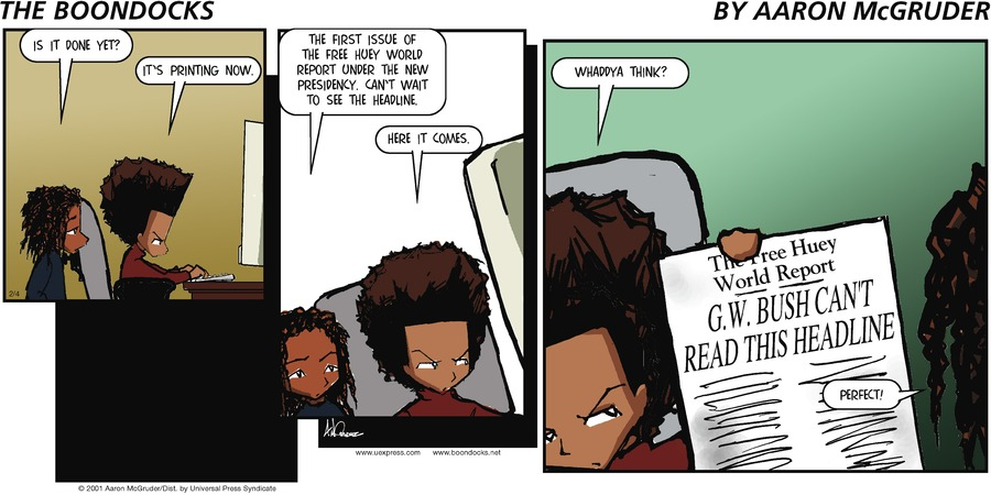 The Boondocks for Feb 4, 2001 Comic Strip