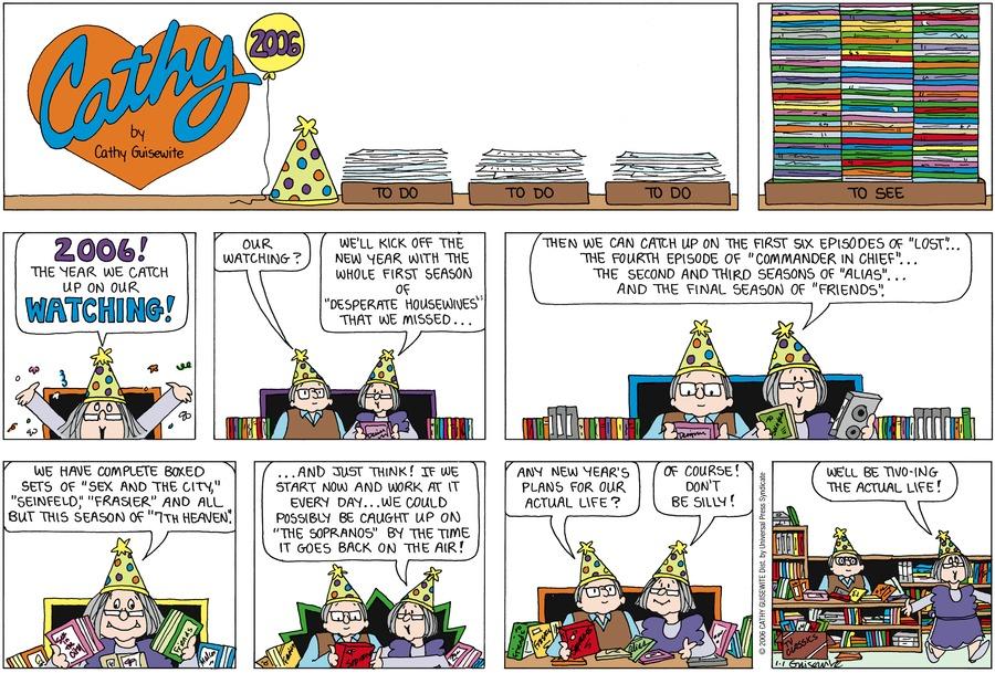 Cathy Classics Comic Strip for January 01, 2017