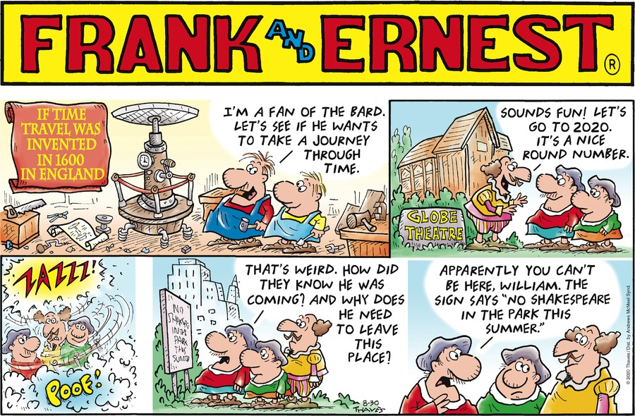 Frank and Ernest Comic Strip for August 30, 2020