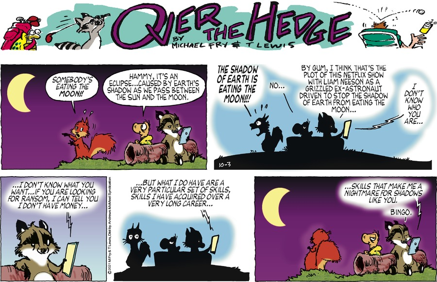 Over the Hedge by T Lewis and Michael Fry on Sun, 03 Oct 2021