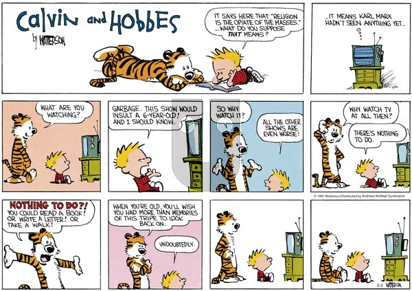 Calvin and Hobbes on Sunday May 2, 2021 Comic Strip