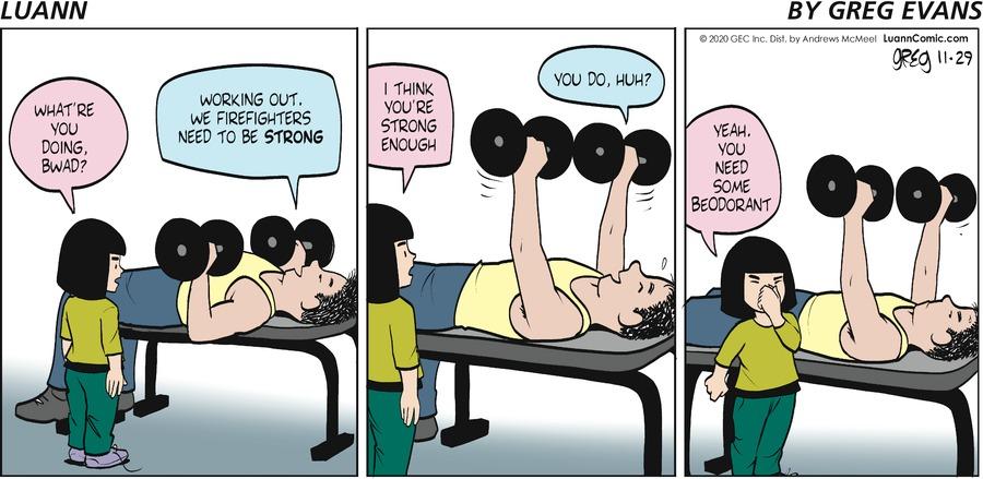 Luann Comic Strip for November 29, 2020