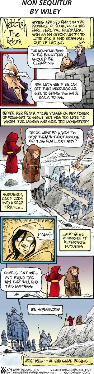Non Sequitur on Sunday March 3, 2019 Comic Strip