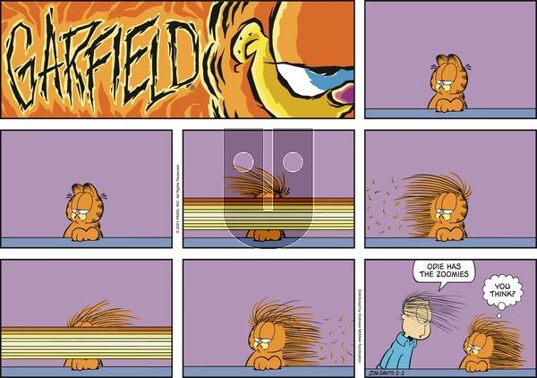 Garfield on Sunday May 2, 2021 Comic Strip
