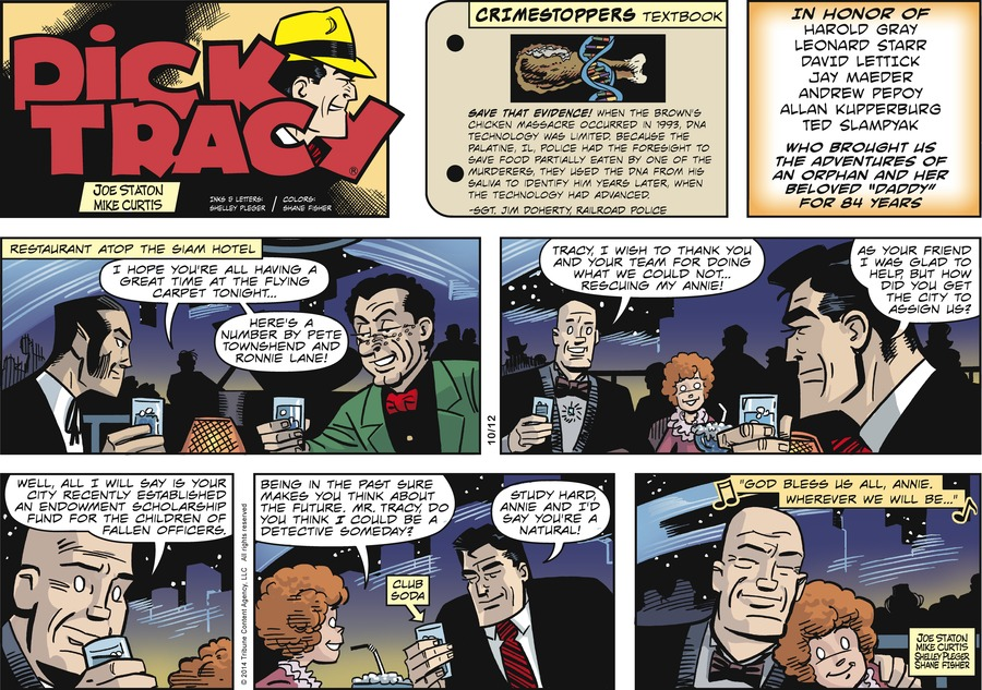 Dick Tracy Comic Strip for October 12, 2014