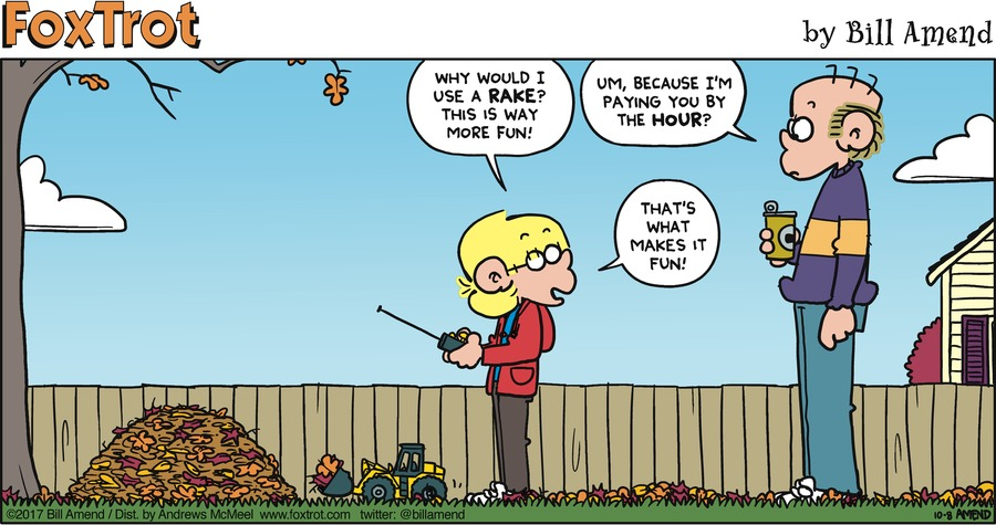 FoxTrot for Oct 8, 2017 Comic Strip