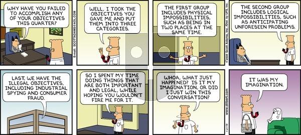 Dilbert on Sunday July 20, 2008 Comic Strip