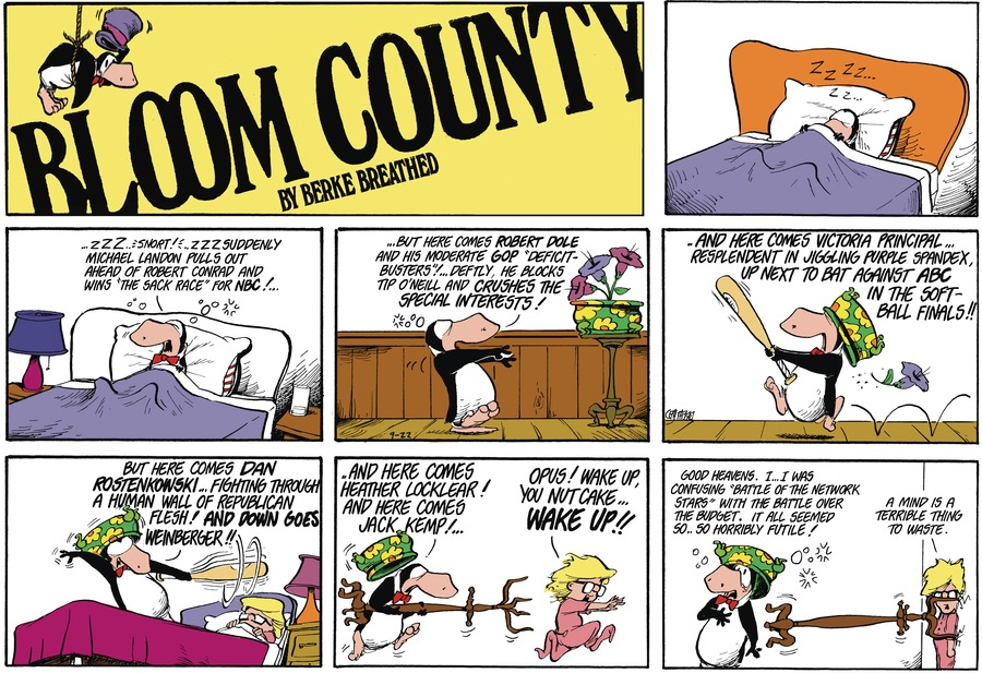 Bloom County by Berkeley Breathed on Sat, 02 Oct 2021
