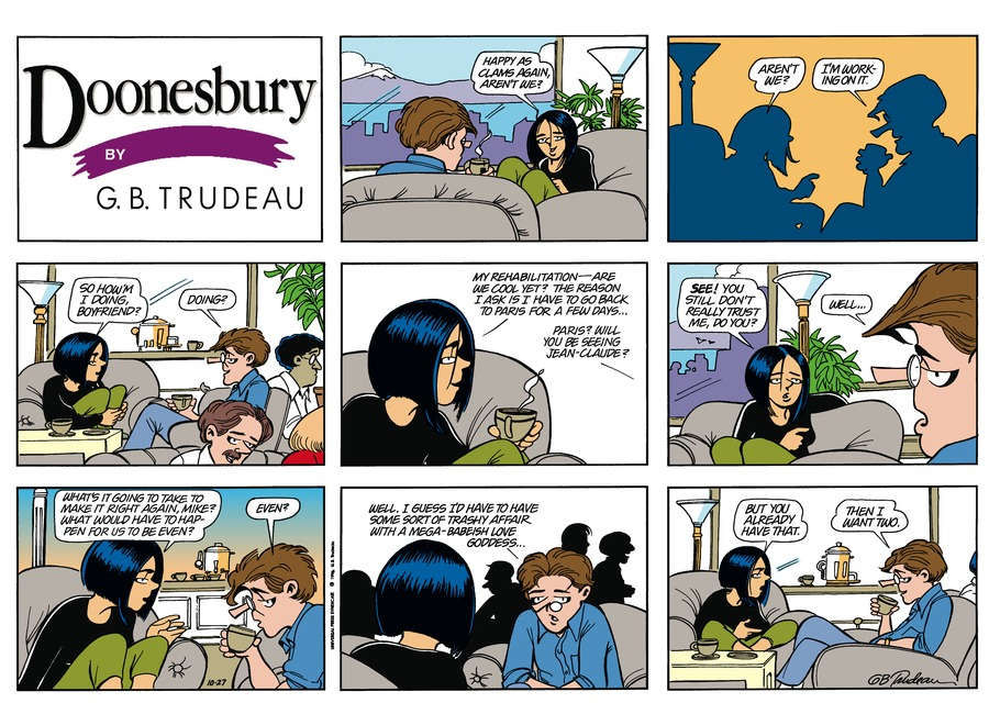 Doonesbury Comic Strip for October 27, 1996
