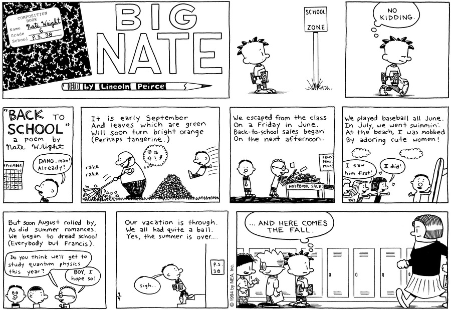 Big Nate: First Class by Lincoln Peirce for September 15, 2019