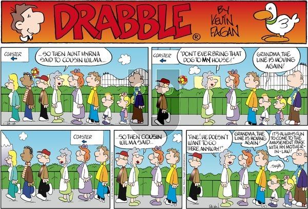 Drabble on Sunday January 28, 2018 Comic Strip