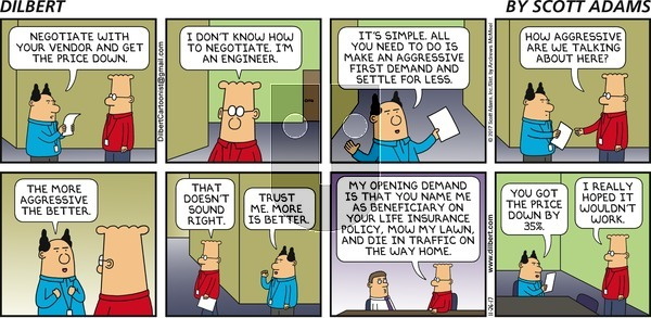 Dilbert on November 26, 2017 Comic Strip