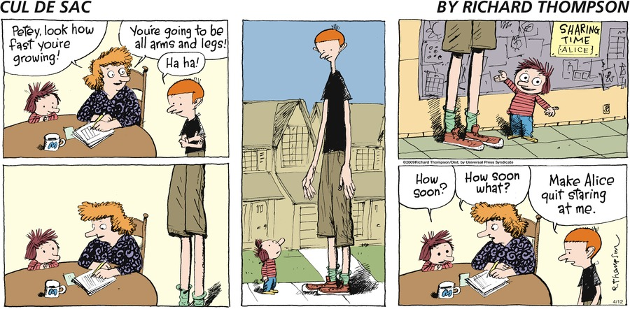 Cul de Sac for Apr 12, 2009 Comic Strip