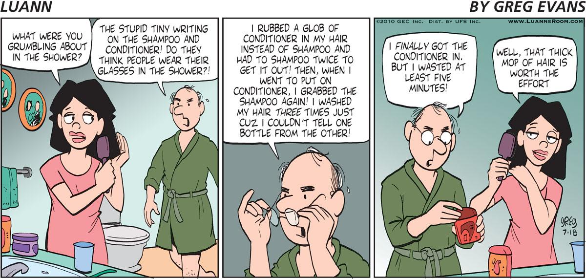 Luann Comic Strip for July 18, 2010