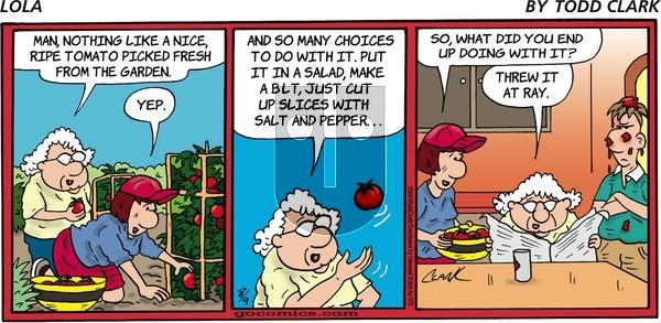Lola on Sunday August 9, 2015 Comic Strip