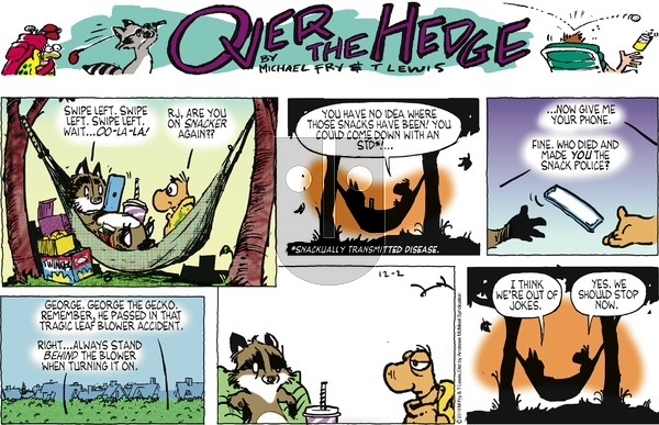 Over the Hedge on December 2, 2018 Comic Strip
