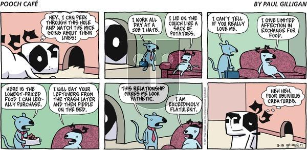 Pooch Cafe on Sunday March 19, 2017 Comic Strip
