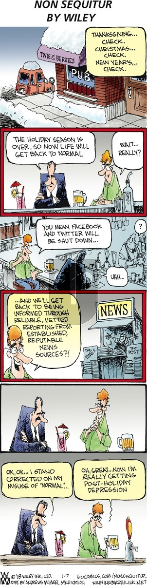 Non Sequitur on Sunday January 7, 2018 Comic Strip
