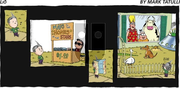 Lio on Sunday March 29, 2015 Comic Strip