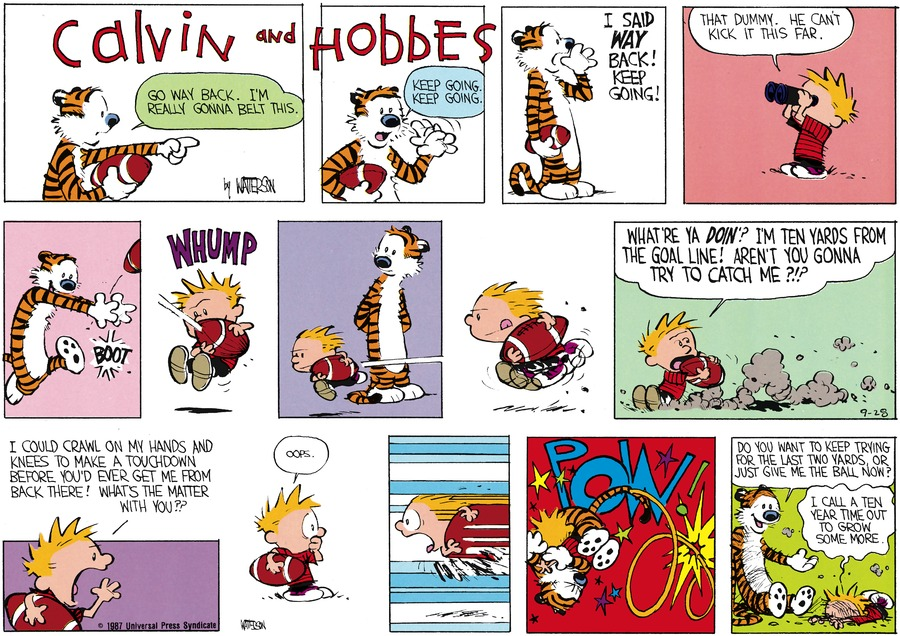Calvin and Hobbes Comic Strip for November 15, 1987