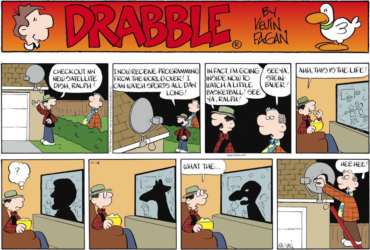 Drabble for Nov 18, 2007 Comic Strip