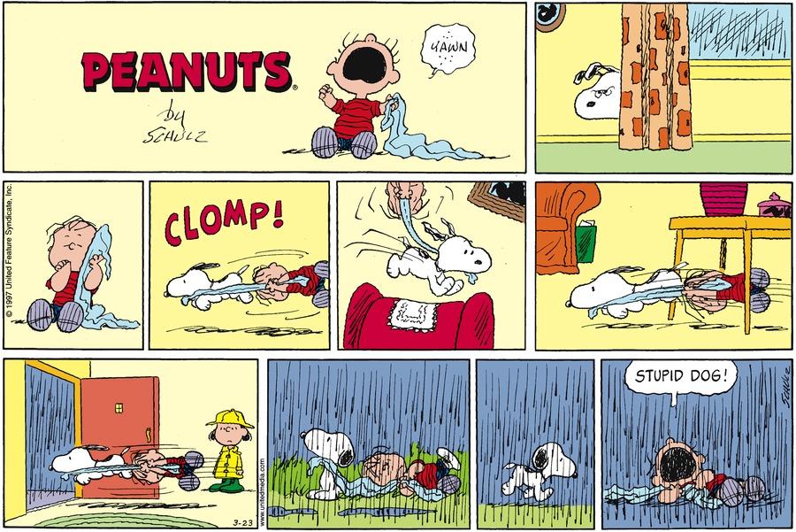Peanuts Comic Strip for March 23, 1997