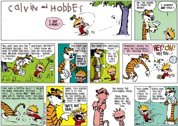 Calvin and Hobbes - Sunday September 21, 2014 Comic Strip