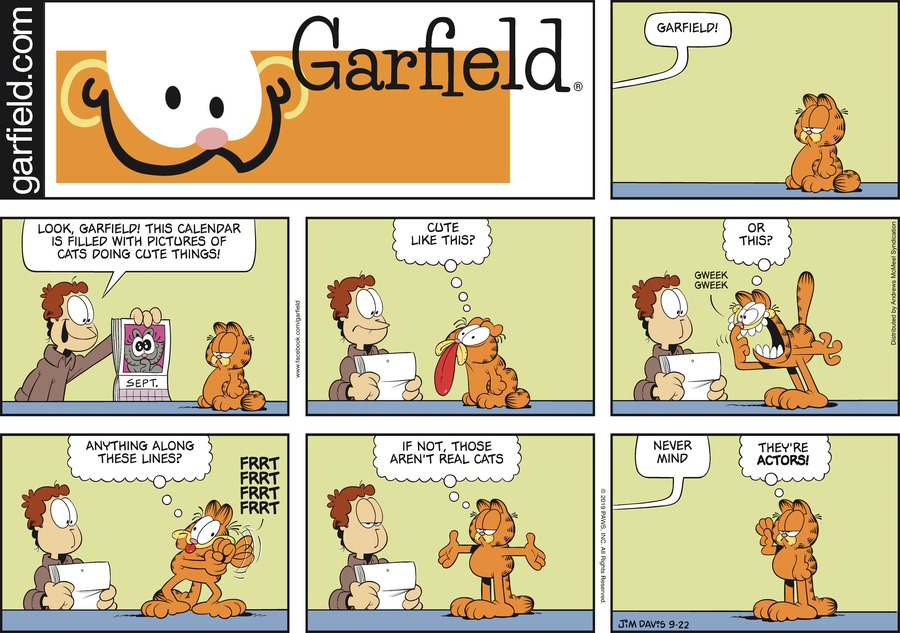 Garfield by Jim Davis for September 22, 2019