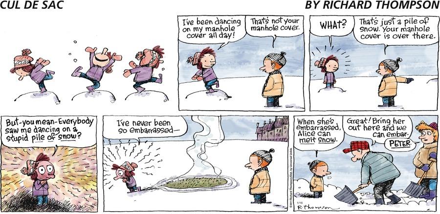 Cul de Sac for Jan 16, 2011 Comic Strip