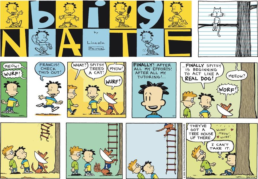 Big Nate Comic Strip for April 01, 2018