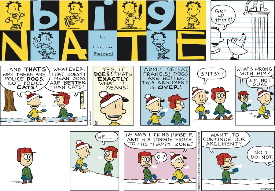 Big Nate Comic Strip for February 16, 2020