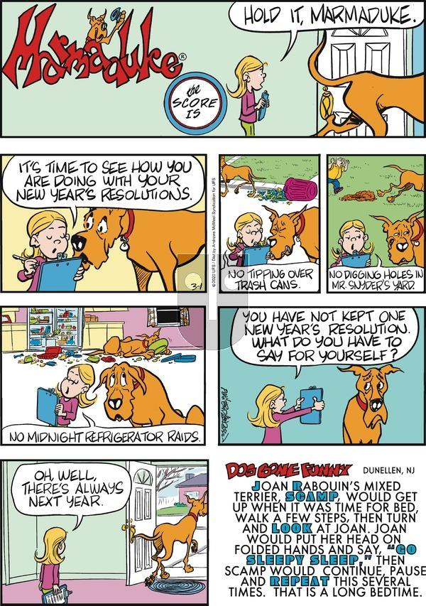 Marmaduke - Sunday March 1, 2020 Comic Strip