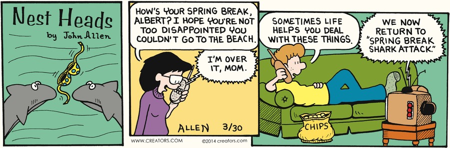 Nest Heads for Mar 30, 2014 Comic Strip