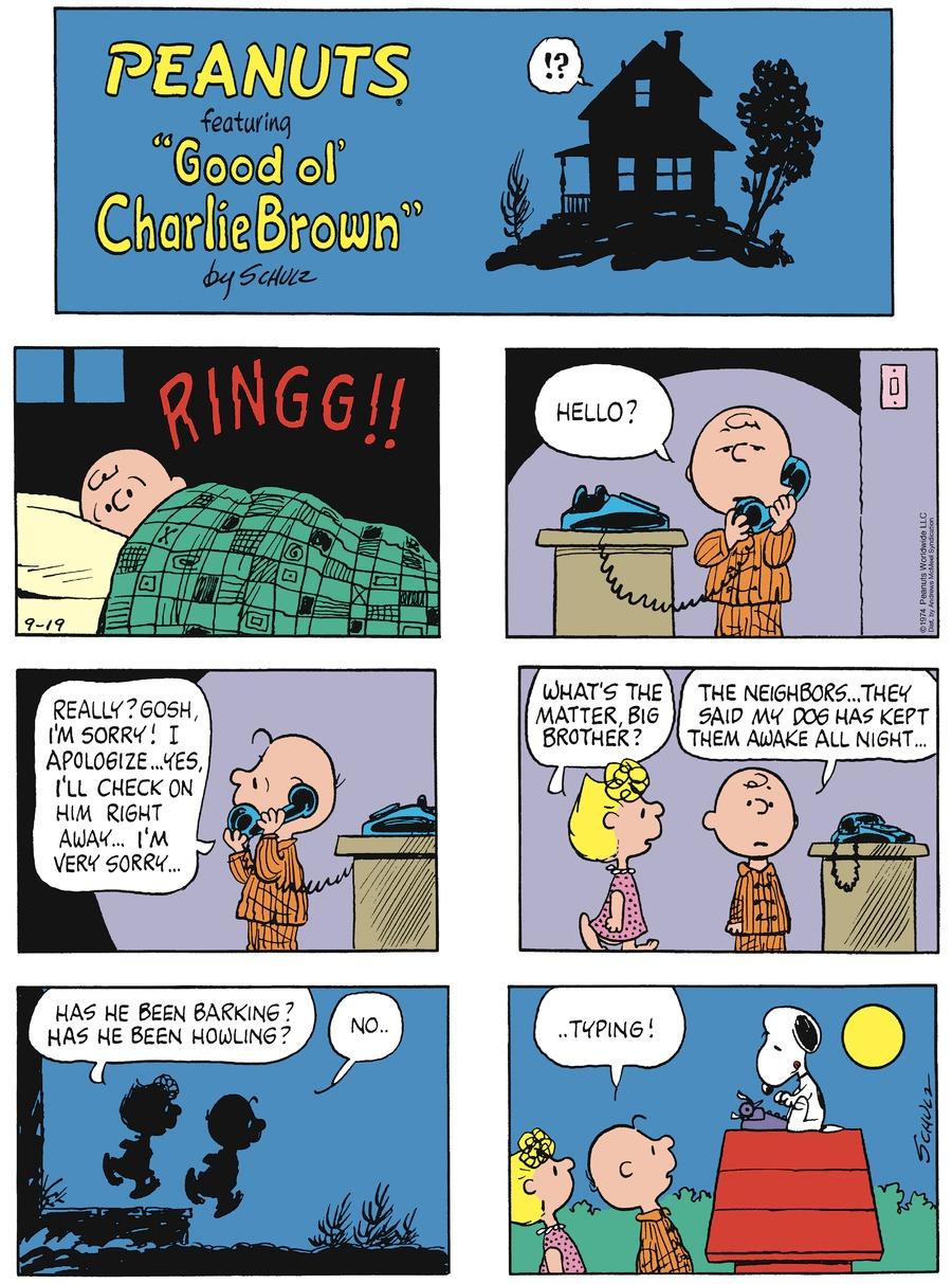 Peanuts Comic Strip for September 19, 2021