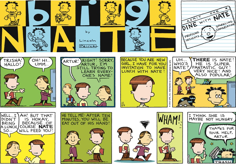 Big Nate Comic Strip for November 24, 2013