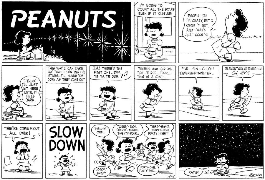 Peanuts Comic Strip for April 04, 1954