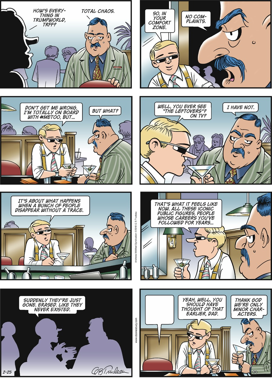 Doonesbury for Feb 25, 2018 Comic Strip