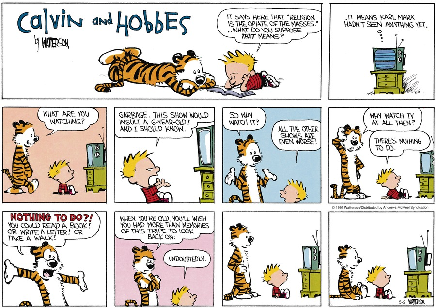 Calvin and Hobbes by Bill Watterson on Sun, 02 May 2021