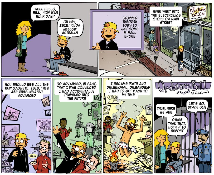 Ordinary Bill Comic Strip for March 16, 2014